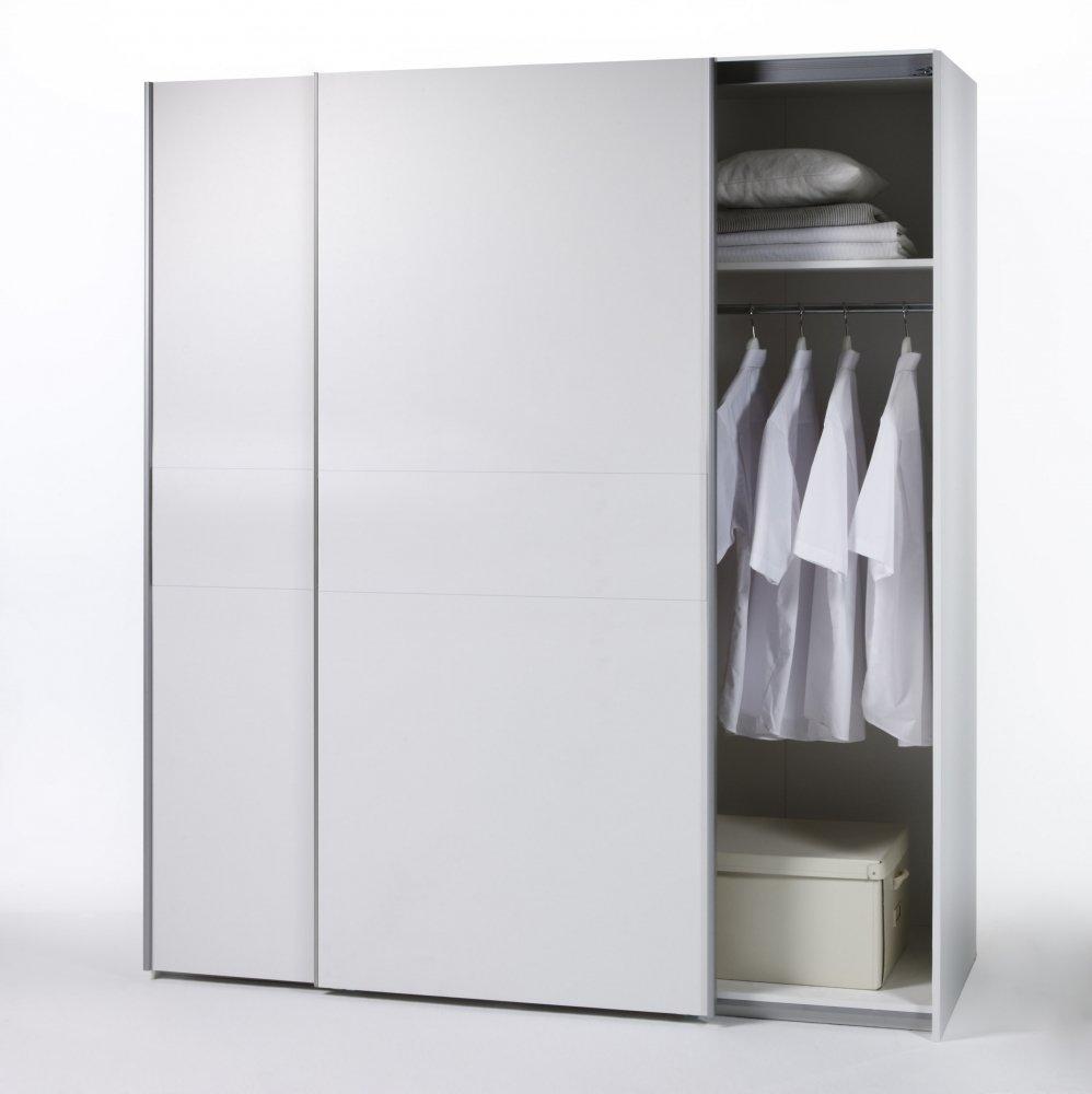 Schön Kleiderschrank Hochglanz Weiß Schiebetüren Dekoration Von Moebel-eins Vanta 2 Schwebetürenschrank Schrank 170 X