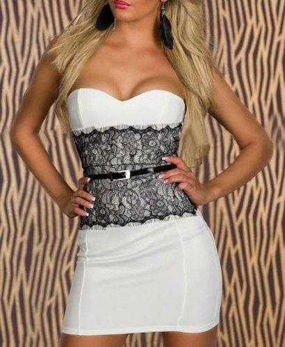 Pinkyee PKY1509151008 - Vestido para mujer 140882-White