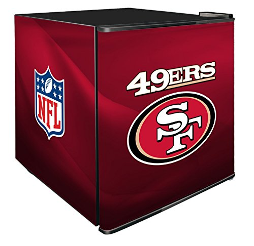 NFL San Francisco 49ers Refrigerated Counter Top Cooler, Small, Red by SG Merchandising Solution