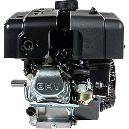 XtremepowerUS 7HP 4-Stroke Gas Engine OHV Industrial Grade Gasoline Engine  Recoil Start Go Kart Log Splitter Lifan Type Engine 212CC, Black