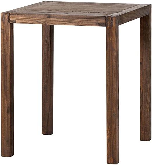 CL Mesa cuadrada de madera maciza Mesa de comedor Cafetería Pastelería Tienda de postres Escritorio Apartamento pequeño Mesa de comedor Mesa pequeña Tamaño pequeño Mesa cuadrada pequeña Negocio Uso do: Amazon.es: Hogar