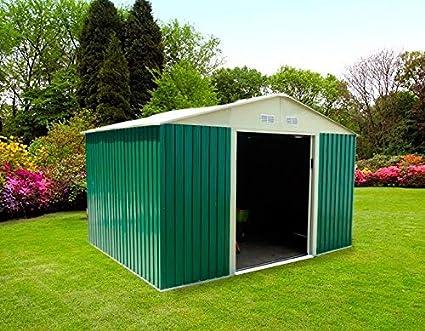 GARDIUN OUTDOOR, S.L.U. KIS12804 Caseta Jardín Metálica Gardiun Bristol (Verde) 7, 74 m² Ext, 321wx241dx205h cm: Amazon.es: Bricolaje y herramientas