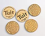 5 Wooden Round Tuits - Laser Engraved