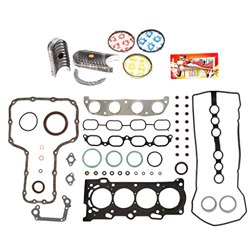 Domestic Gaskets Engine Rering Kit FSBRR2024EVE 99-08 Chevrolet Toyota Celica Corolla 2.4 1ZZFE Full Gasket Set, Standard Size Main Rod Bearings, Standard Size Piston Rings