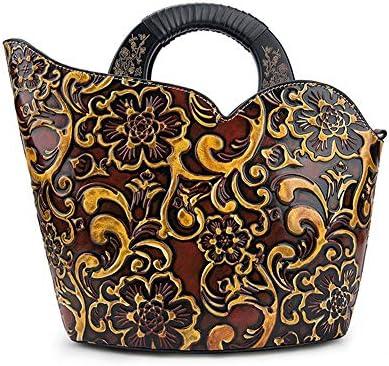 ハンドバッグ - 植柔皮ヨーロッパやアメリカのファッションレトロハンドバッグ、ショルダーバッグメッセンジャーバッグ、27×8×28.3センチメートル よくできた (Color : Red)