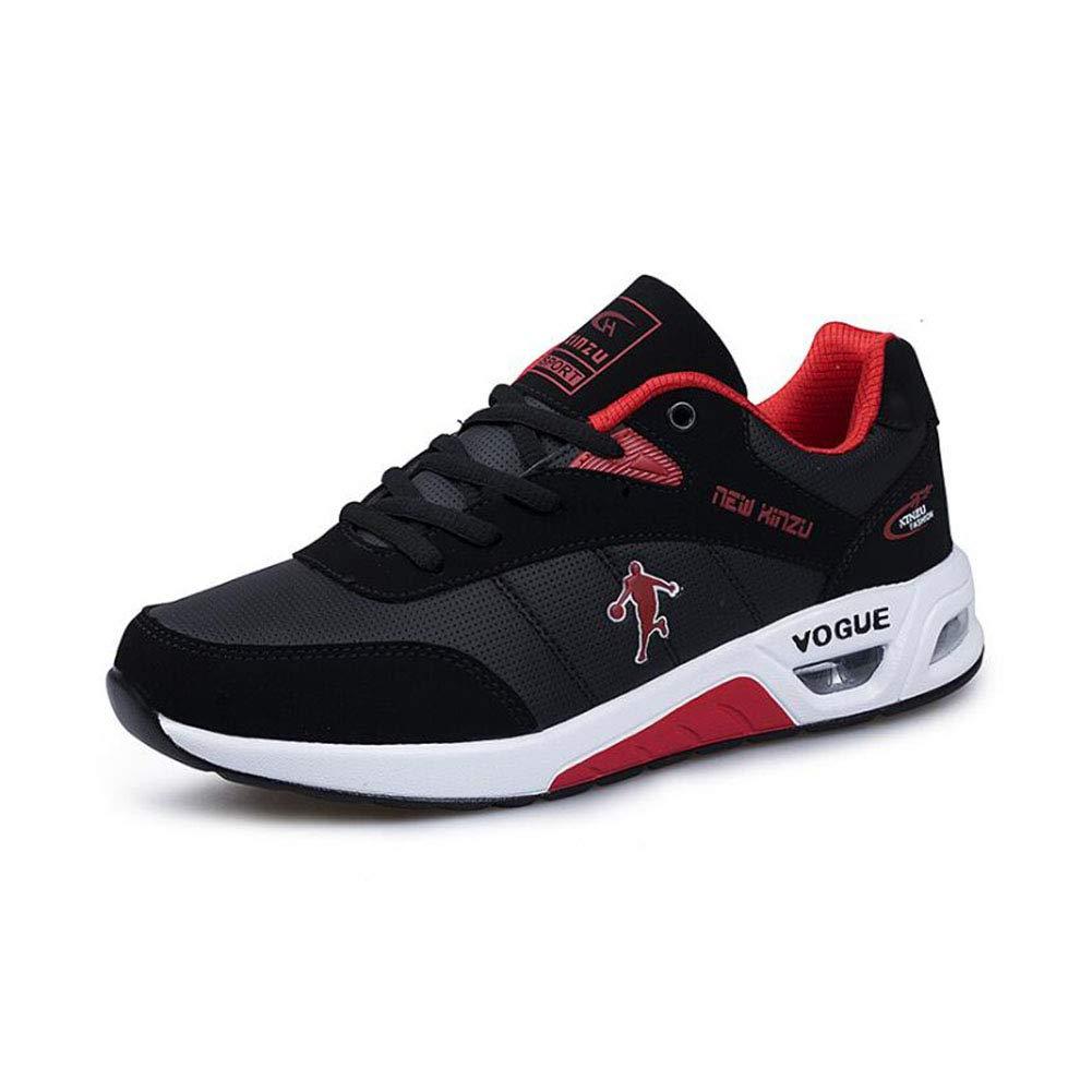 YAXUAN Laufschuhe Luftkissen-Laufschuhe Jugend Rutschfeste Turnschuhe Niedrig, um Basketball-Schuhe zu helfen Männer Outdoor Casual Schuhe (Farbe   C, Größe   43)