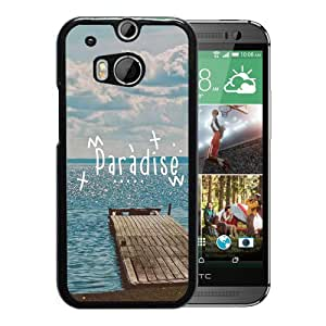 New Beautiful Custom Designed Cover Case For HTC ONE M8 With Paradise Beach Dock Phone Case