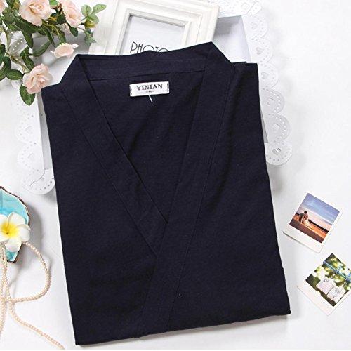 De Para Kimono Meditación Fancy Japonés Hombres Traje Estilo Pijamas Navy421 Pumpkin 8x7wqp6F