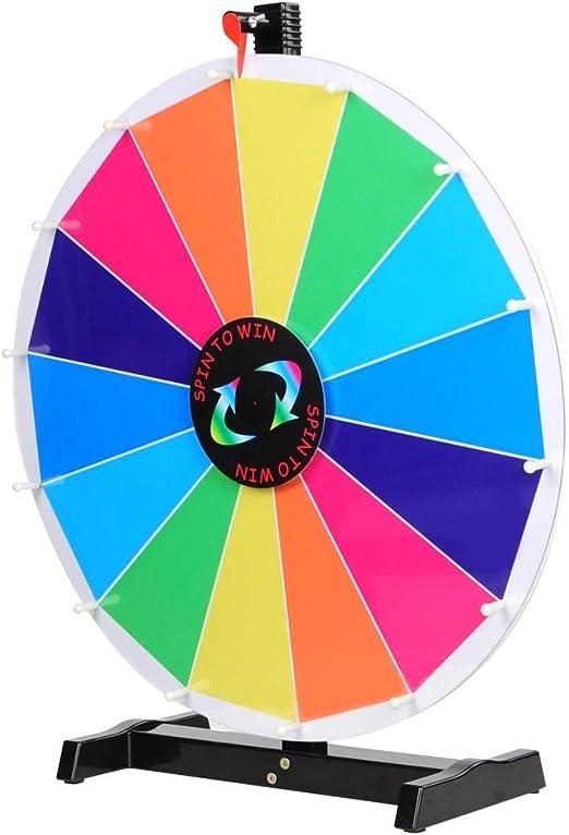 Yescom 24 Generation Ii Rainbow Prize Wheel w/ 14 Slots, Dry Erase ...