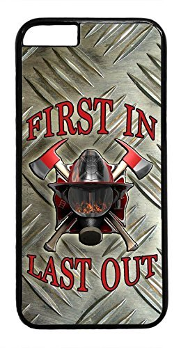 THE FORTRESS Premium cases -Firefighter Fireman Helmet Symbol Black Case Cover rubber Plastic Black Case Cover for NEW iPod 6 6th Gen The perfect blend of minimalism and shock absorbtion