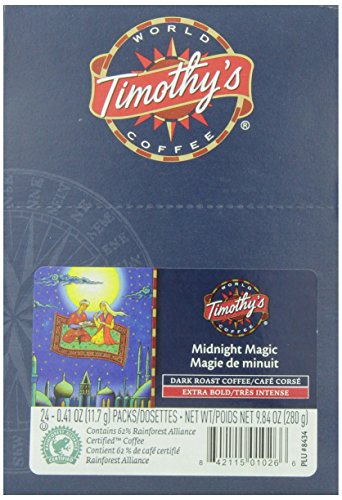 World Magic (Timothy's World Coffee, Midnight Magic,  K-Cup Portion Pack for Keurig K-Cup Brewers 24-Count  (Pack of 2))