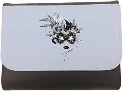 Printed CaseWallet made of Leather, 14cm X 11cm, Fancy dress costume