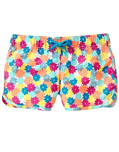 Gymboree Big Girls' Favorite Printed Board Shorts, Multi, L