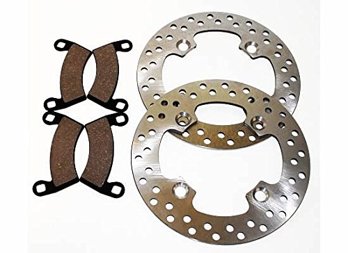 2011 2012 2013 Polaris 900 Razor RZR XP Front Brakes Brake Rotors & Brake Pads CycleATV