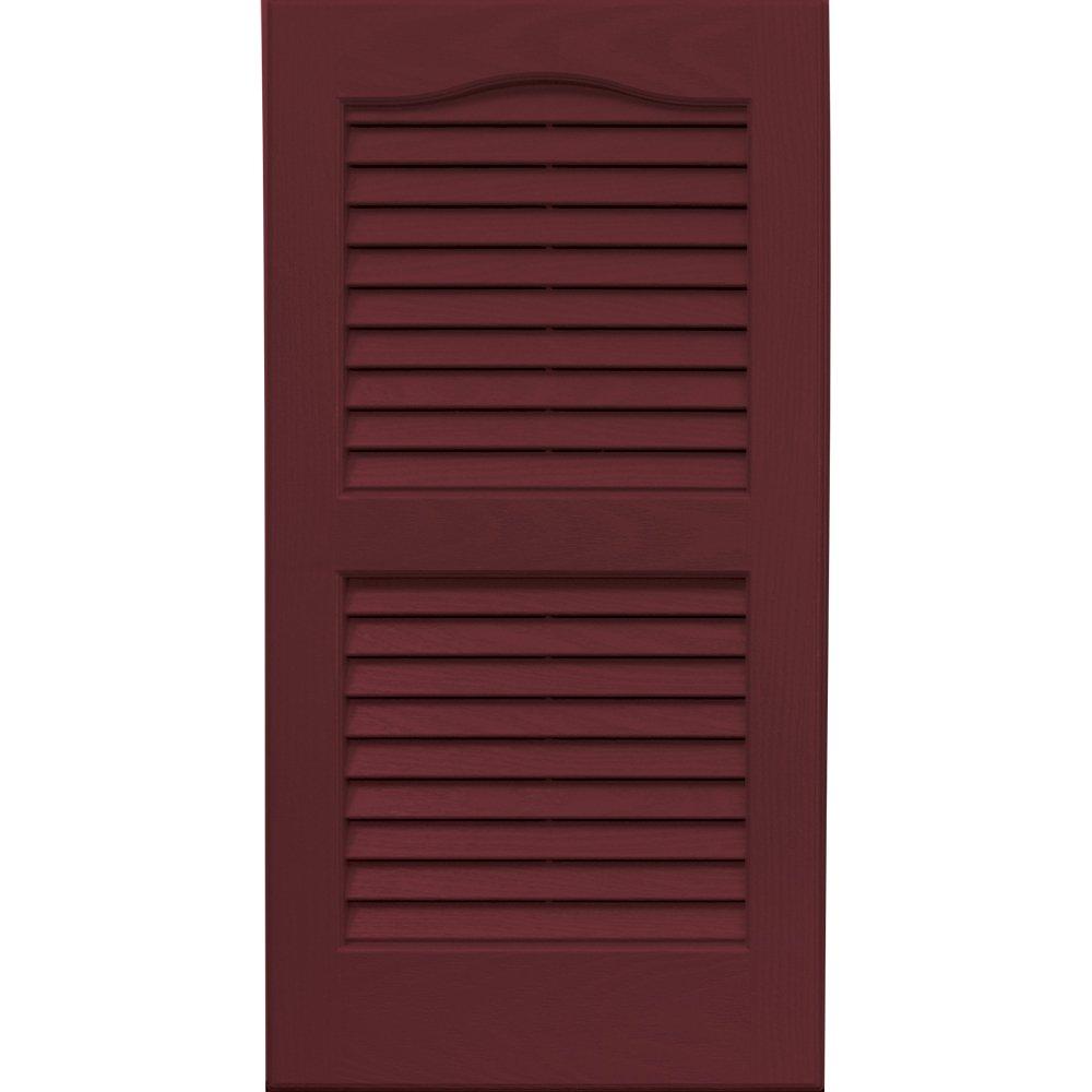 Vantage 0114027989 14X27 Louver Arch Shutter/Pair 989, Cranberry