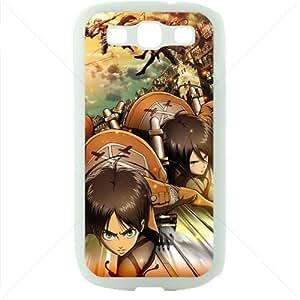 Shingeki no Kyojin Attack on Titan Manga Anime Comic Samsung Galaxy S3 SIII I9300 TPU Soft Black or White case (White)