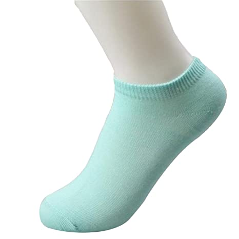 Hosaire 10pares Calcetines Tobilleros Color Puro,Calcetines Planos Antideslizantes Calcetines Casual Calcetines Transpirables, Adecuado