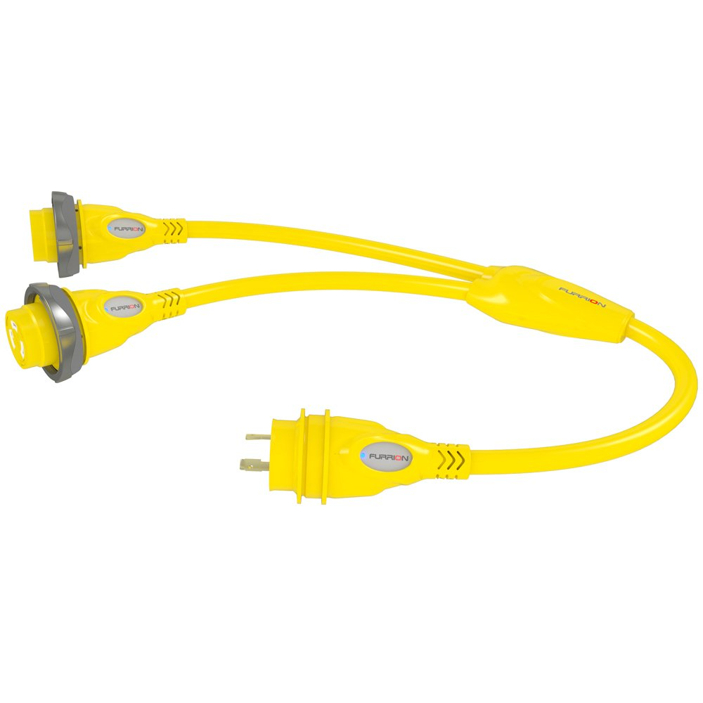 Furrion F3030Y-SY Yellow (2)30 Amp Female to 30 Amp Male Y-Adapter