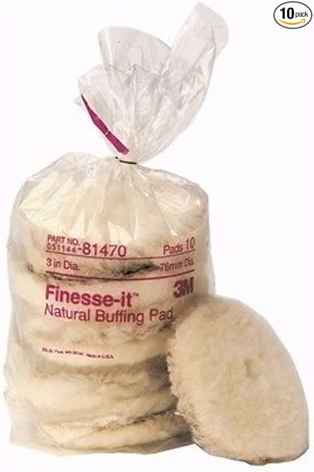 """New 10 Pack Marine Finesse-it Natural Buffing Pad 3m Marine 81470 3/"""""""