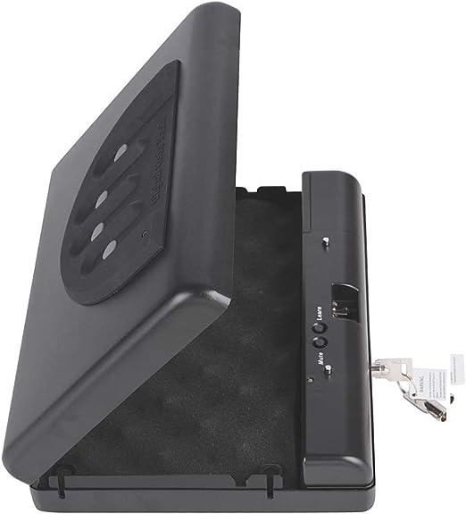 TBDLG Portátil Pistola Contraseña Caja de Seguridad Efectivo ...