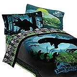 Jurassic World 5pc Full Comforter and Sheet Set Bedding Collection Blue, Green, Dark Blue, Dark Green Full
