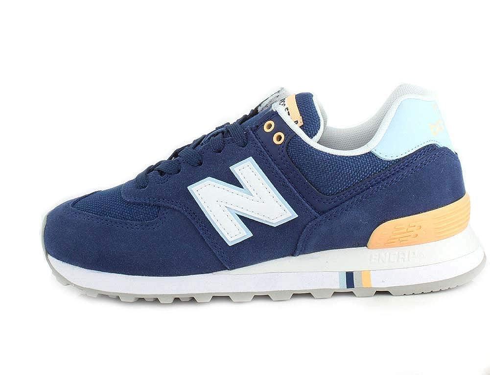 New Balance Wl 574 NSC Sneaker Damen Gelb Sahne Blau