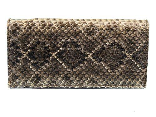 Genuine Genuine Cowboy Rattlesnake 598 Bifold Wallet Skin W303 Rattlesnake SqaSnr6
