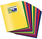 Better Office Products Poly 2 Pocket Folders Heavyweight, 36 Piece
