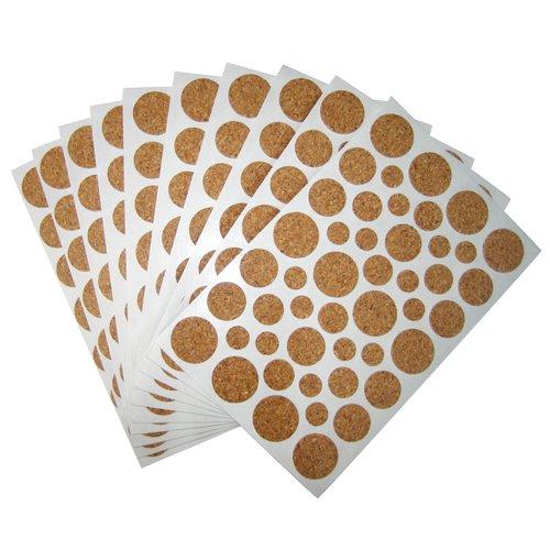 Sheet Cork Flooring (Light Duty Cork Protector Pads - 15 Sheets (46 PCS / Sheet)