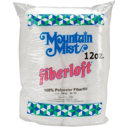 Mountain Mist Fiberfill - Mountain Mist Fiberloft Polyester Stuffing, 12 Ounces