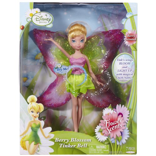 Berry Bell (Disney Fairies, Flower Scents Doll, Berry Blossom Tinker Bell, 9 Inches)