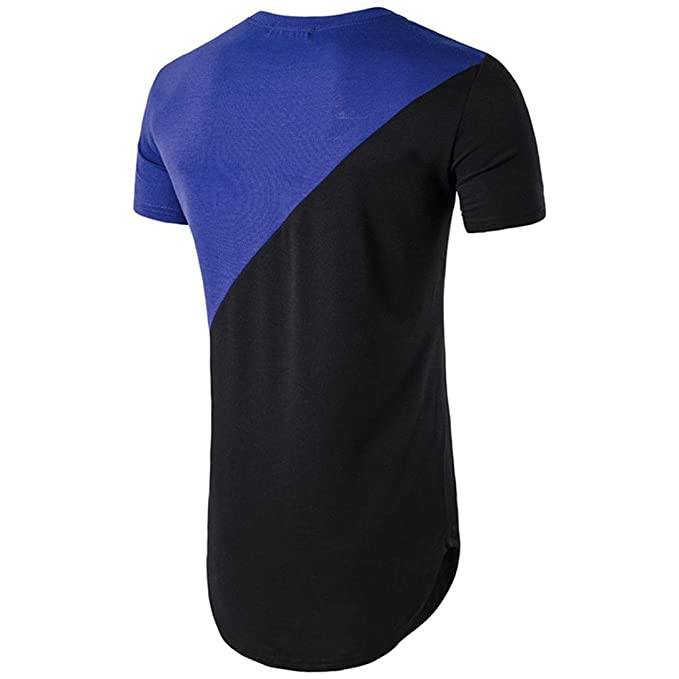Camisetas, Ling+YAN Hombre Block Casual Button Empalme Pullover Camiseta de Manga Corta Top Blusa: Amazon.es: Ropa y accesorios