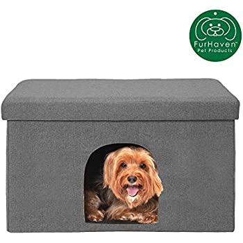 Amazing Furhaven Pet Dog Bed Felt Pet House Private Hideout Den Collapsible Pop Up Living Room Ottoman Footstool Condo For Cats Small Dogs Available Inzonedesignstudio Interior Chair Design Inzonedesignstudiocom