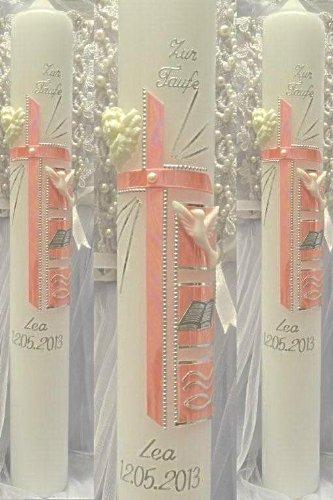 Bougie de baptême Cierge 300/50mm T de 470avec étiquette kerzenzauber-lusine