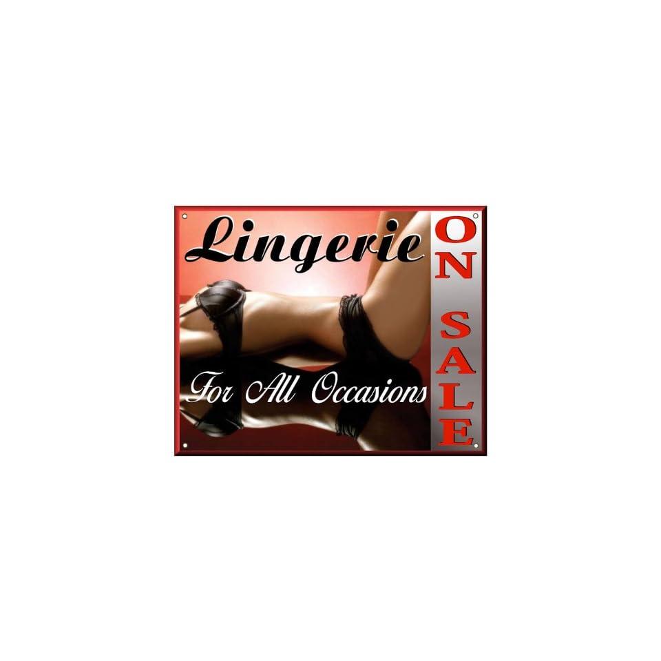 LINGERIE SALE Metal sign lacy bra underware / ladies garments store wall display art 196