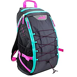 Black Backpack for School, Work, Travel, Sports or Outdoors by Avia (With Pink Neon Accents)
