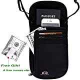 Passport Wallet - Passport Holder - Travel Wallet with RFID Blocking for Security