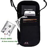 Passport Wallet - Passport Holder - Travel Wallet with RFID Blocking for Security (Black)