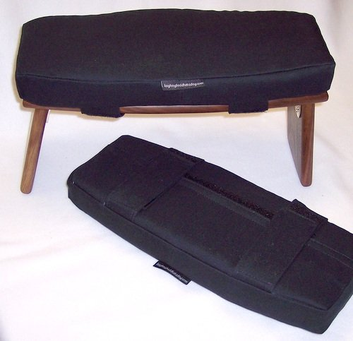 Meditation Bench Cushion, Black