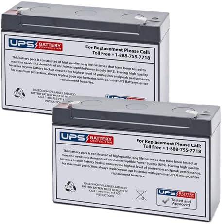 6V 12AH F1 Sealed Lead Acid SLA Replacement Battery Set for Organon Teknika BACT Alert Incubator