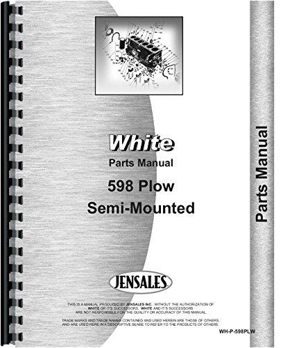 White 598 Plow Parts Manual ()