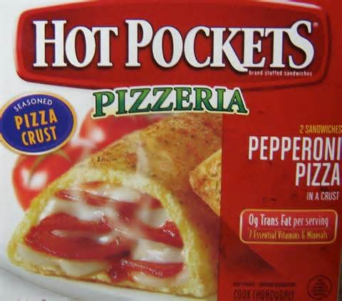 HOT POCKETS FROZEN SANDWICHES PEPPERONI PIZZA 9 OZ PACK OF 4
