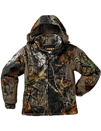 Review Rocky Junior Prohunter Waterproof Insulated Hooded Jacket, Realtree Extra Camouflage, X-Large