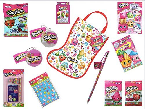 Shopkins Loaded Easter Basket Stuffers Filled 12 Piece Bundle with 2016 Holiday Ornaments