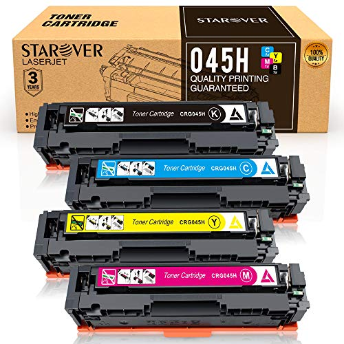 STAROVER Compatible Toner Cartridges Replacement for Canon Cartridge 045 045H CRG-045H for Canon Color imageCLASS MF634Cdw MF632Cdw LBP612Cdw MF632 MF634 - 4 Pack ()