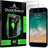 Abyss Gear Glass Screen Protector for iPhone 8 iPhone 7 (2 Pack), Double Strength Tempered Glass Shatter Resistant Cover with Installation Frame