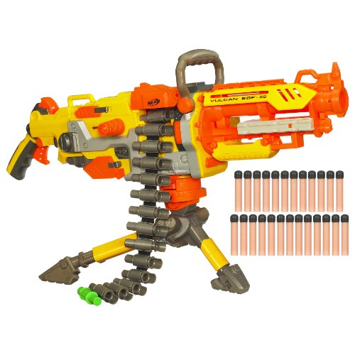 Nerf N-Strike Vulcan EBF-25 Dart Blaster (Discontinued by - Nerf Automatic Gun Fully
