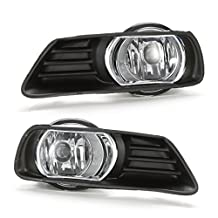 LEDIN For 2007-2009 Camry Clear Driving Fog Lights w/ Bezel Switch Wiring Bulb Set