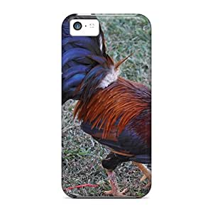 Awesome Puerto Rico Rooster Flip Case With Fashion Design For Iphone 5c