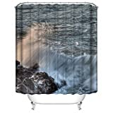 SHOWER CURTAIN New product (67) Waterproof Polyester Fabric Shower Curtain 66
